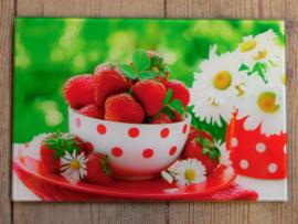 Wanddecoratie aardbeien (M. ter Halle)