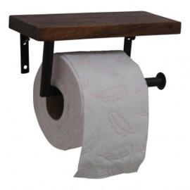 Toiletrolhouder hout/metaal (Evenaar)