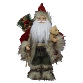 Decoratie kerstman met beer (Clayre & Eef)
