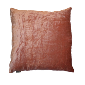 Kussen crushed velvet rose (Linen & More)