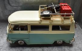 Model buscamper lichtblauw klein (Clayre & Eef)