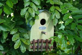 Nestkast / vogelhuisje geel (Esschert Design)