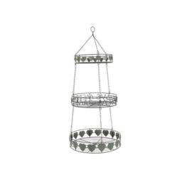 Hanging basket grijsgroen  kerst (Kersten)