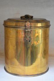 Oude messing pot glans L  (Be-Uniq)
