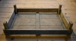 Oud houten bollenkrat blauw