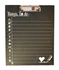 "Klembordje ""things to do.."" (Clayre & Eef)"