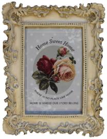 Fotolijstje ornament crème/beige (H. Pijls & Zonen)