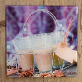 Wanddecoratie glaasjes (M. ter Halle)