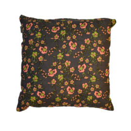 Kussen simple flower pink lime (Linen & More)