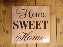 "Houten bord ""Home sweet.."" blank (Clayre & Eef)"