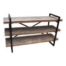Laag rek hout/metaal (Evenaar)
