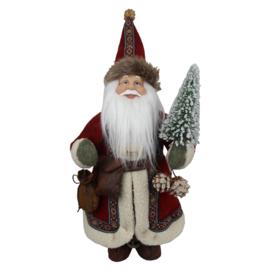 Decoratie kerstman met kerstboom (Clayre & Eef)