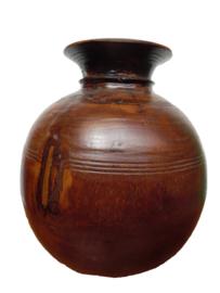 Oude pot hout rond  (Varios)