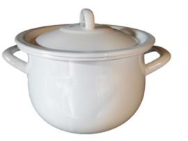 Emaille pan wit (Kitchen Trend)