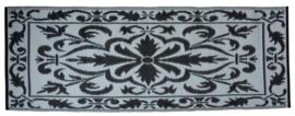 Balkontapijt 70x200 cm zwart/wit (Esschert Design)
