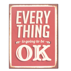 "Bord ""Every thing OK"" (Clayre & Eef)"