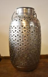 Decoratievaas zilver opengewerkt (Clayre & Eef)