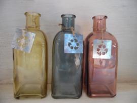 Gekleurde glazen flesjes