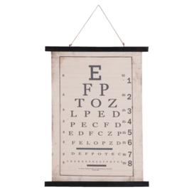Wandkaart linnen letters (Clayre & Eef)