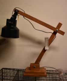 Industrieel lampje staand zwart (Go'round)