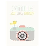 """A3 poster """"Smile"""" (Sparkling Paper)"""