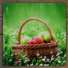 Wanddecoratie mand met appels (M. ter Halle)