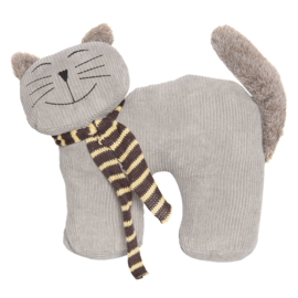 Deurstopper kat grijs (Clayre & Eef)