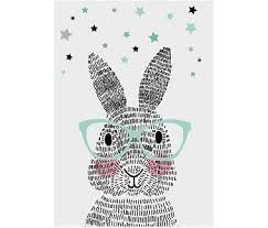 Poster 'mr rabbit' (Sparkling Paper)