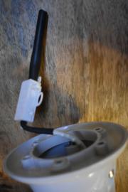 Wit retro lampje koplamp (Light & living)