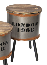 Bijzettafel/opbergton London middel (Clayre & Eef)