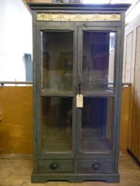 Blauwgrijze vitrinekast India (Raw Materials)