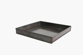Dienblad glad metaal vierkant (Raw Materials)