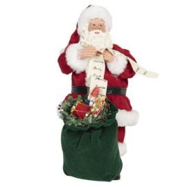 Decoratie kerstman met zak cadeaus (Clayre & Eef)