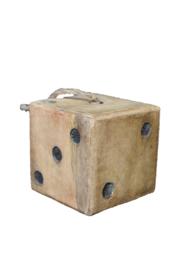 Deurstopper houten dobbelsteen (Van Manen)