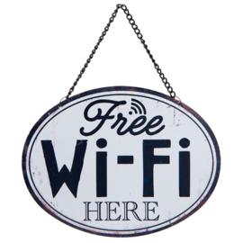 Tekstbordje Free Wifi (Clayre & Eef)