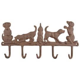 Haak vijf honden (Esschert Design)