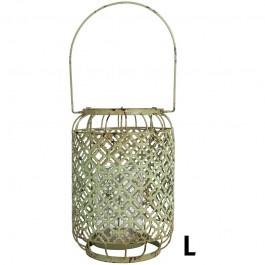 Lantaarn groen L (Esschert Design)
