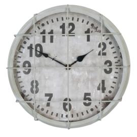 Repro oude klok grijs (Clayre & Eef)