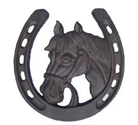 decoratie hoefijzer paard gietijzer