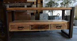 tv-meubel mangohout met metaal