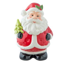 Voorraadpot kerstman klein (Clayre & Eef)