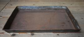 Dienblad roest rechthoek metaal (Raw Materials)