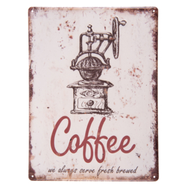 Tekstbord Coffee (Clayre & Eef)