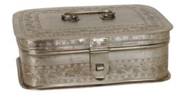 Metalen kistje zilver (Clayre & Eef)