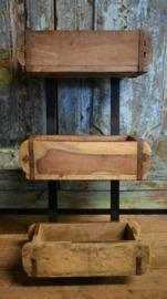 Bakjesrek hout/metaal (ByMooss)