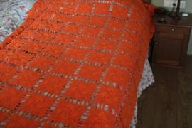 Oranje retro sprei gehaakt