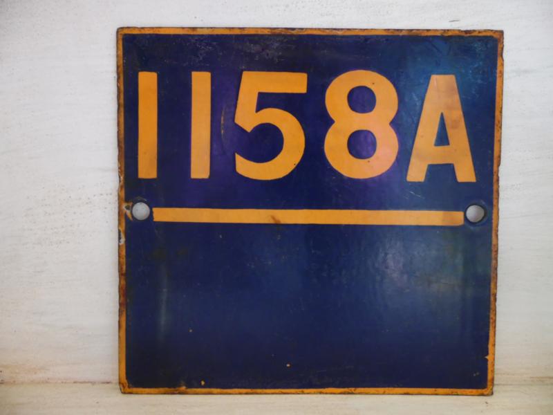 Emaille spoorbordje (Evenaar)