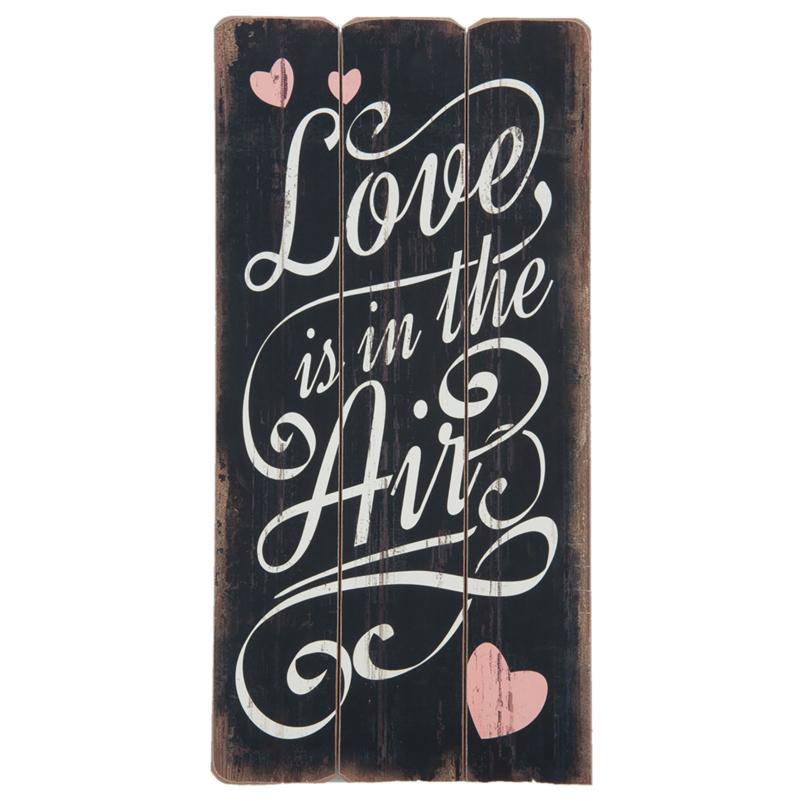 Tekstbord Love is in the air (Clayre & Eef)
