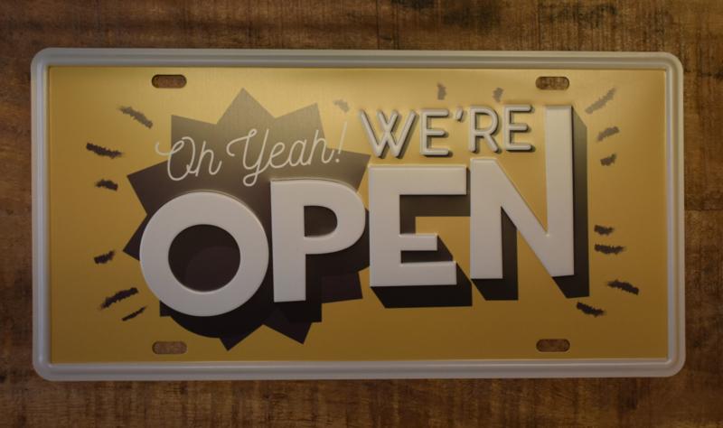 Tekstbordje Open (Clayre & Eef)