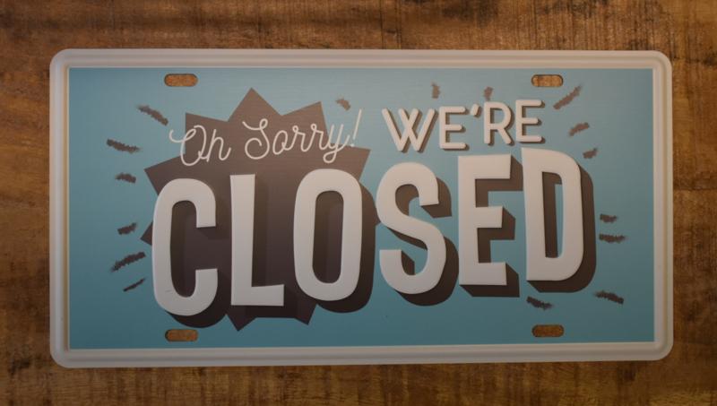 Tekstbord Closed (Clayre & Eef)